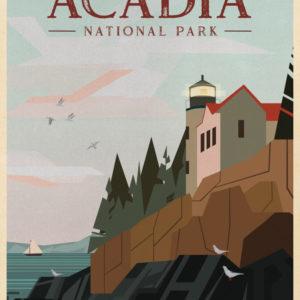 Acadia National Park Illustration
