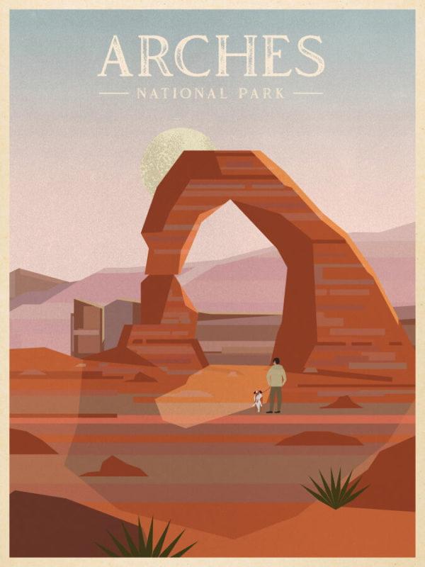 Arches National Park Illustration