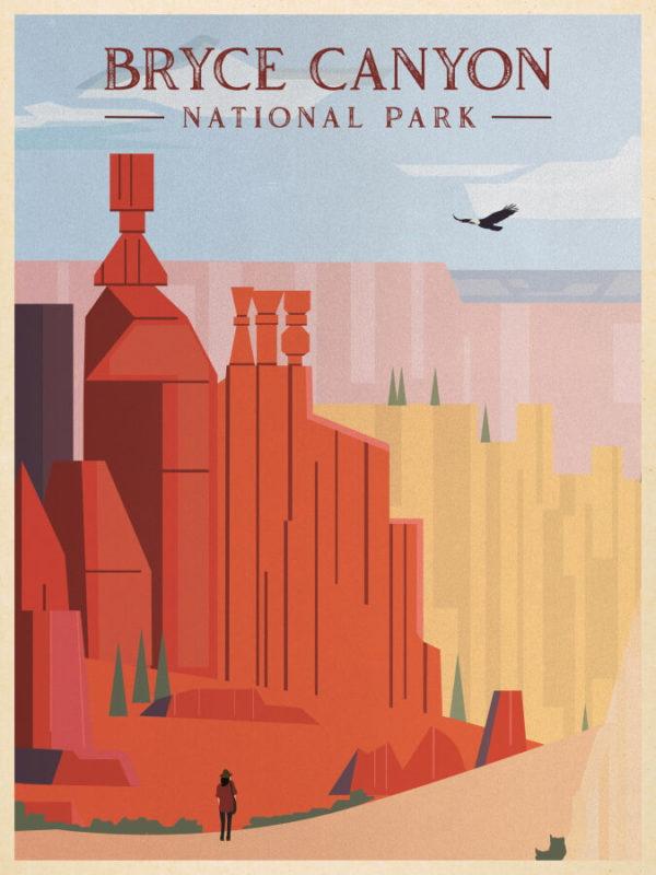 Bryce Canyon National Park Illustration