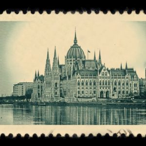 Budapest Hungary Antique Stamp