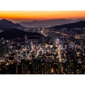 Busan City In South Korea During The Night