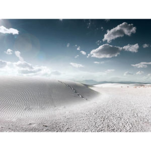 White Sand Dunes and Clouds In The Sky