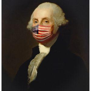 George Washington With USA Flag Face Mask