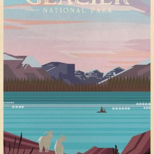 Glacier National Park Illustration