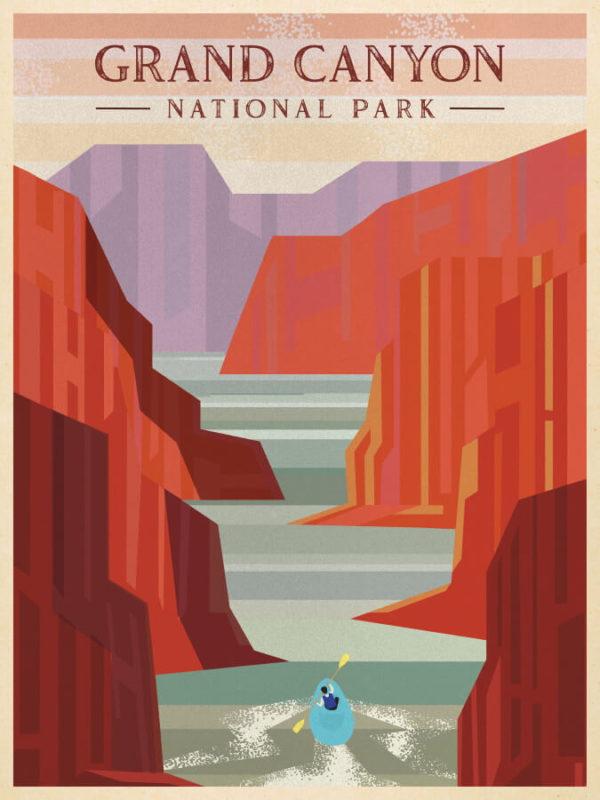 Grand Canyon National Park Illustration