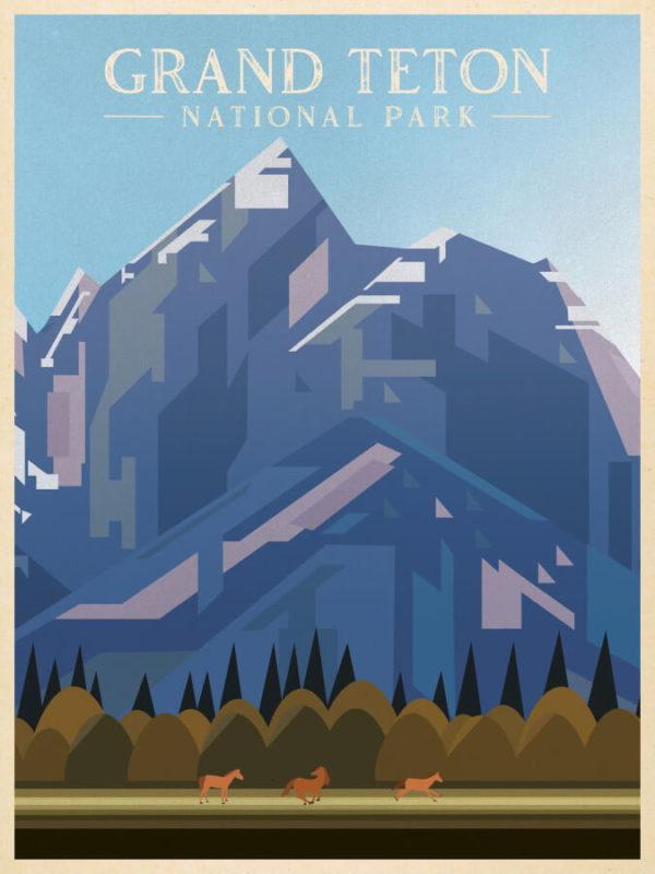 Grand Teton National Park Illustration