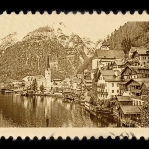 Hallstatt Austria Antique Stamp