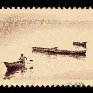 Lake Victoria Uganda Antique Stamp