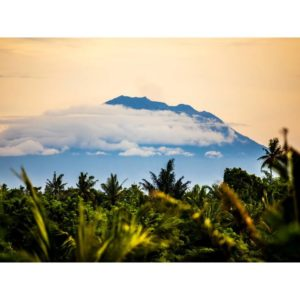 Mount Agung Volcano In Bali Indonesia