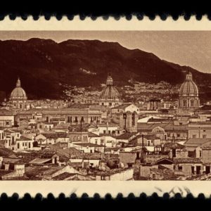Palermo Italy Antique Stamp