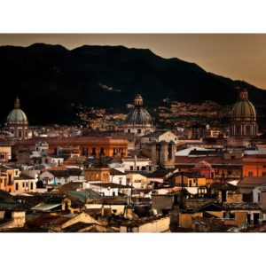 Palermo In Italy During The Night