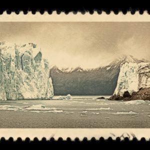 Perito Moreno Glacier Argentina Antique Stamp