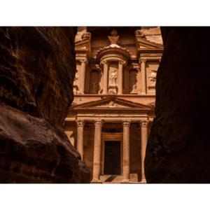 Petra In Jordan Between Two Rocks