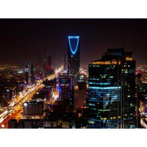 Riyadh In Saudi Arabia During The Night