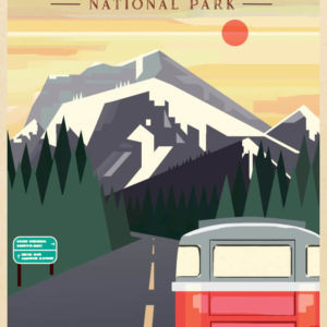 Rocky Mountain National Park Illustration
