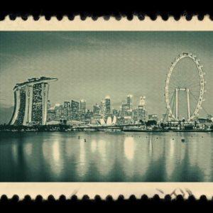 Singapore Antique Stamp