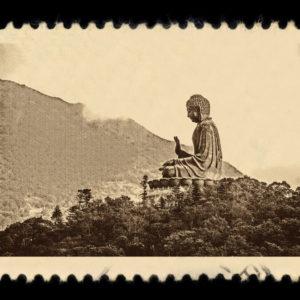 Tian Tan Buddha Hong Kong Antique Stamp