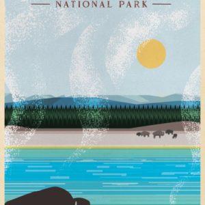 Yellowstone National Park Illustration