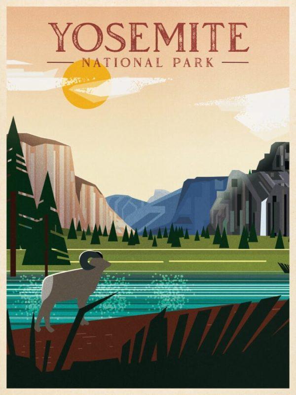 Yosemite National Park Illustration