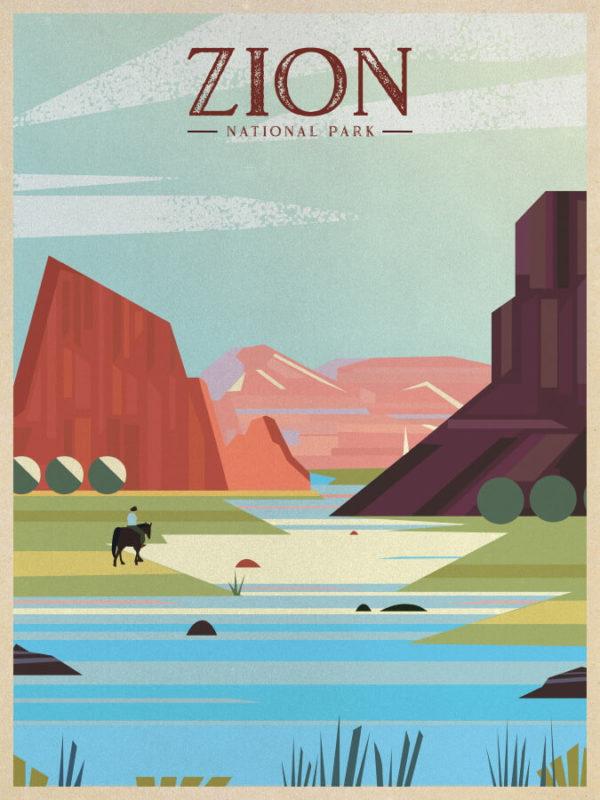 Zion National Park Illustration
