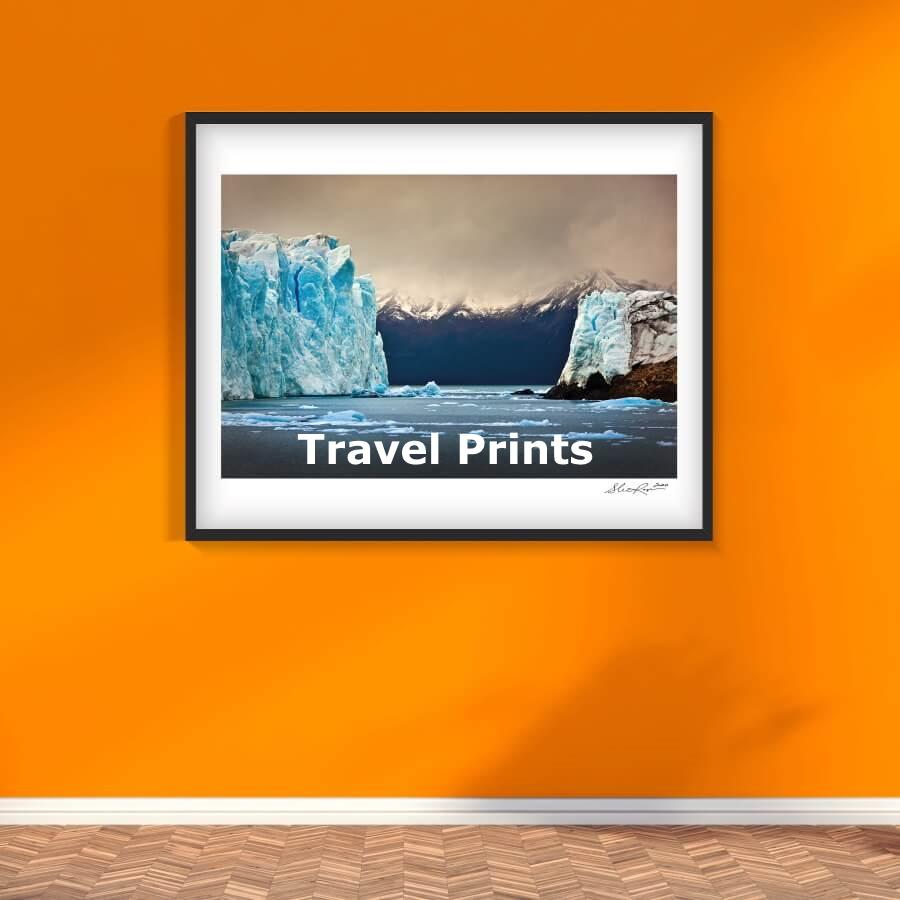Winter Museo Travel Prints Argentina Glacier